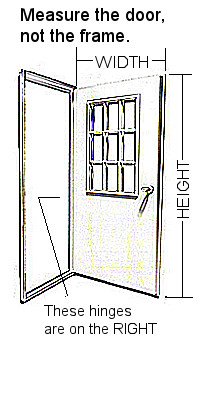 ext outswing door sizing
